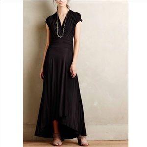 Anthropologie• Maeve Black Jersey Maxi Dress